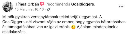 Orbán Tímea GoalDiggers visszajelzés